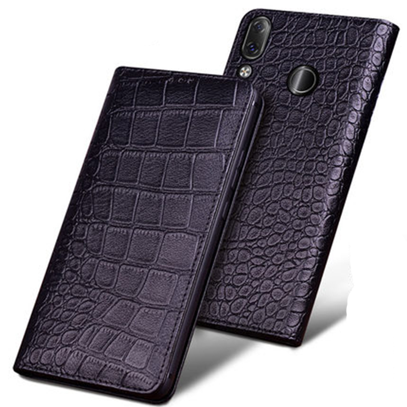 Business Flip Stand Case for Fundas Lenovo Z5 Luxury Genuine Cow Leather Case for Lenovo Z5 Fashion Phone Cover Bag coque capa
