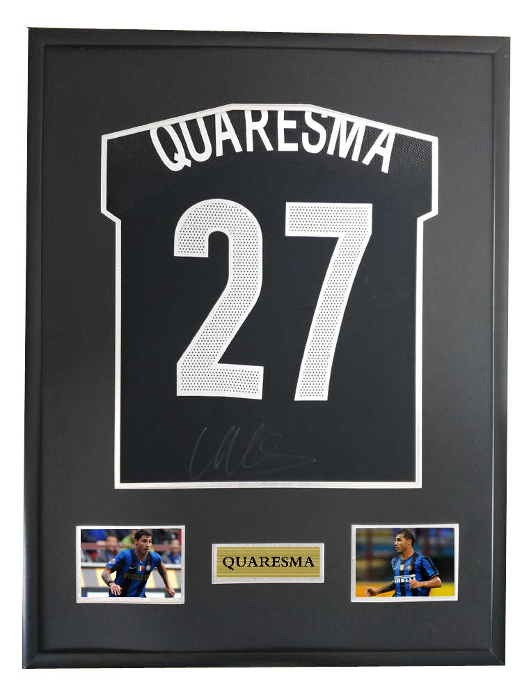 374f3741ec2 Quaresma signed autographed soccer shirt jersey come with Sa coa framed