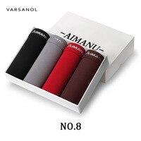 Varsanol Brand 4pcs Lot Newest Men S Boxer Underwear Shorts Solid Model Boxers Sexy Underpants Men