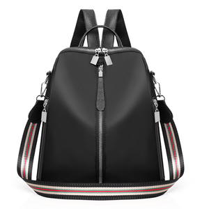 Image 5 - Kobiety podwójne plecaki z zamkiem błyskawicznym wielofunkcyjne Oxford tkaniny tornister plecaki dla dziewcząt kobieta plecak vintage torby na ramię A4