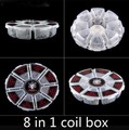 newest 8in1 Coil Box 6pcs each of  Clapton Flat Twisted  Hive  Tiger Quad  Quad Fused clapton Alien Heating wire
