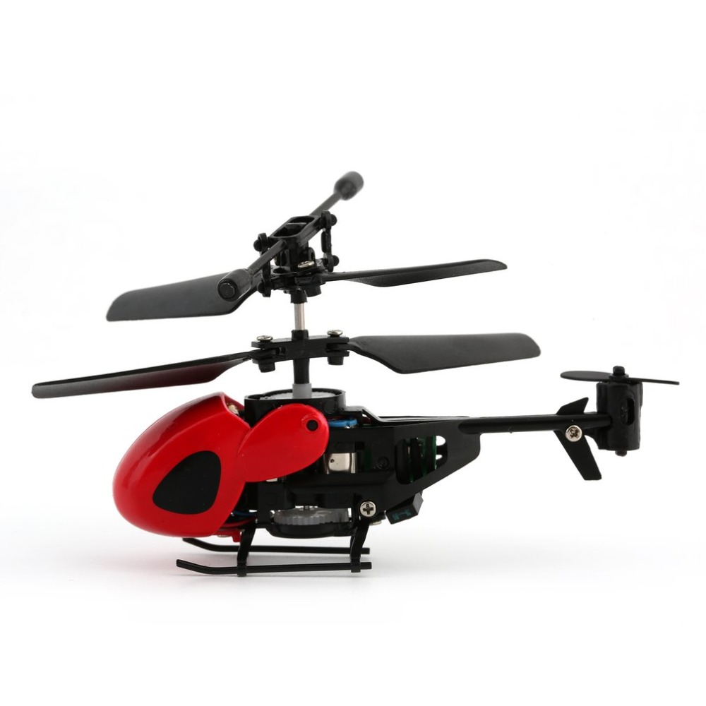 Flying Mini RC Helicopter Kid's RC Toy Mini RC Plane Radio Remote Control Aircraft Micro 2 Channel RC 5012 Yellow