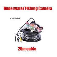 Free shipping 20Meters Underwater camera fishing CCD IR waterproof 600TV lines nigh vision diving camera fish finder