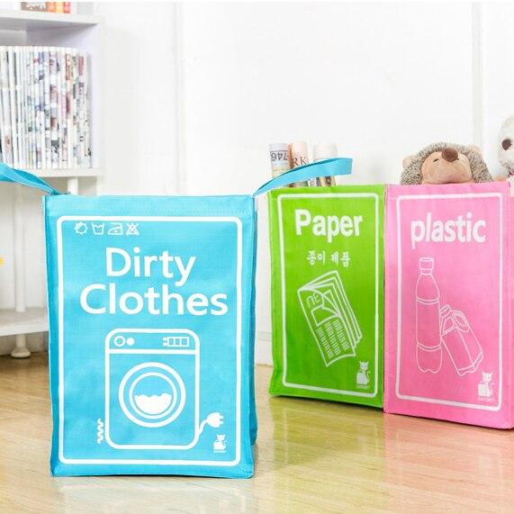 multi-role waterproof dirty barrel folding toy creative laundry box bag clothes basket bra necktie socks storage organizer bins