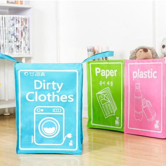 Multi-peran tahan air kotor barel lipat mainan kreatif kotak pakaian - Organisasi dan penyimpanan di rumah