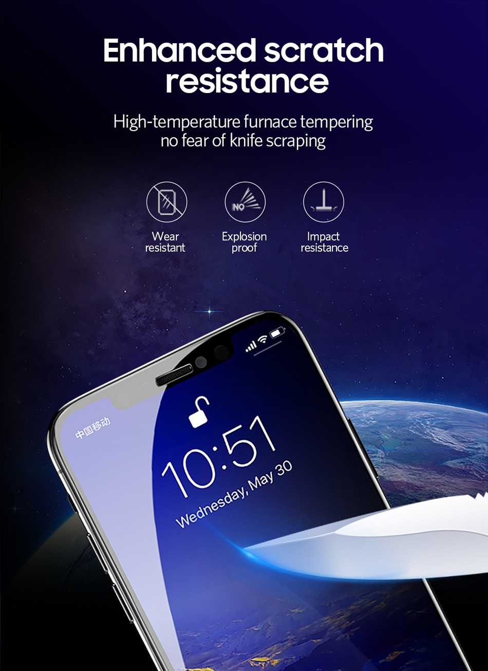 Benks Anti Spy Tempered Glass For iPhone XS 5.8`` XS MAX 6.5`` Full Protection Cover For XR 6.1 Screen Protector Anti Glare Front Film (8)