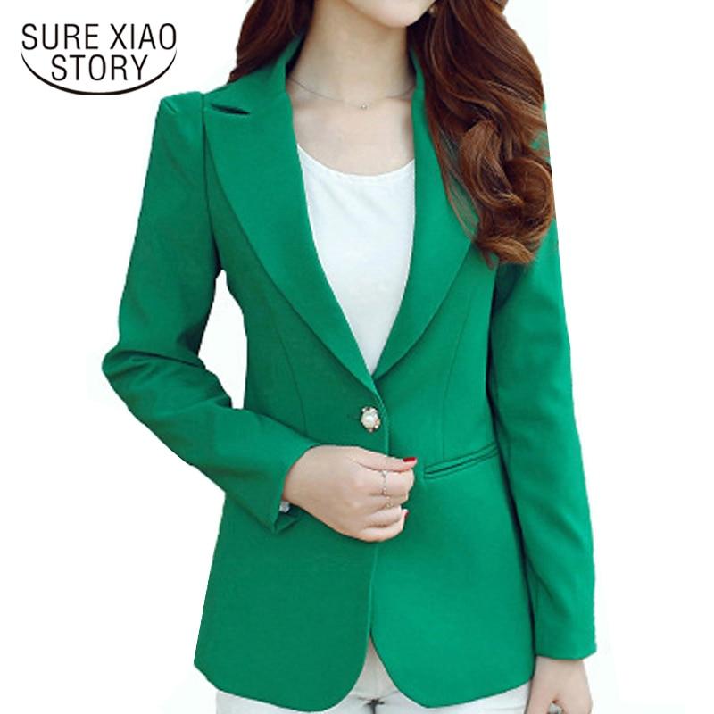 8db6661f46f88f Kopen Goedkoop 2017 aangekomen fashion kantoor dame stijl lange mouw jasje  vrouwen tops slanke elegante casual solid vrouwen outwears D214 30 Prijs