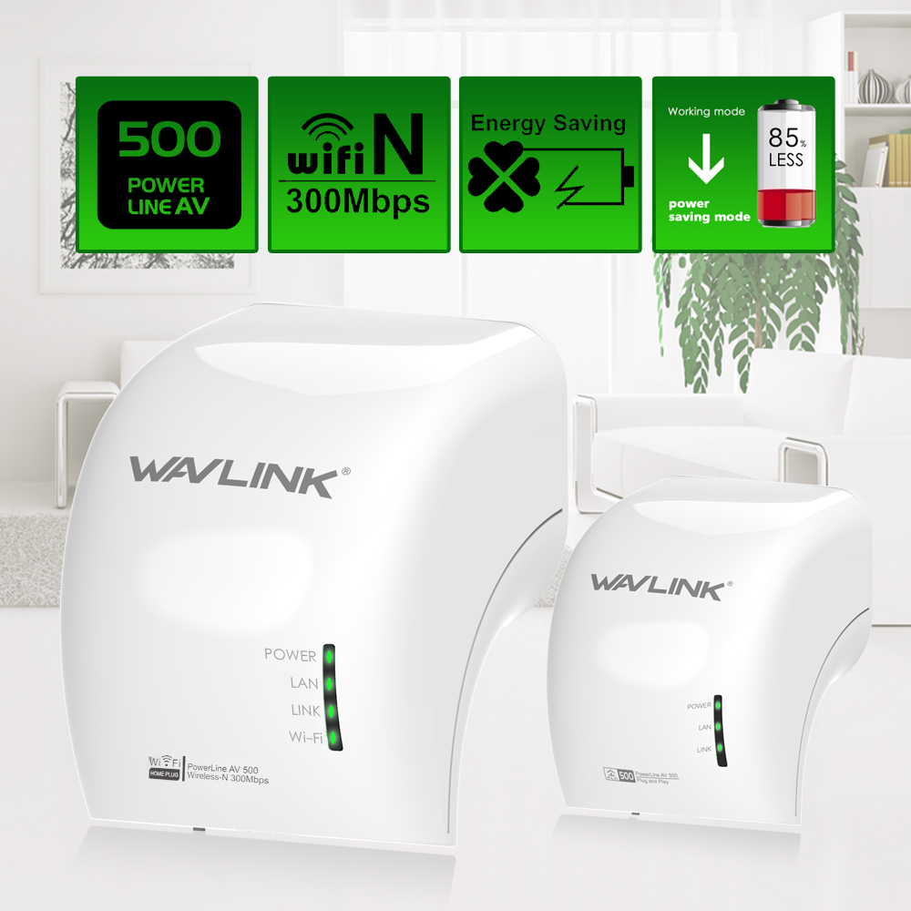 Wavlink Pair Wi-Fi Power line Ethernet Extender Kit AV500 Wireless Mini plc adapters homeplug Network Powerline Adapters 300Mbps pu short wallet purse with colorful printing of japanese anime tonari no totoro my neighbor totoro
