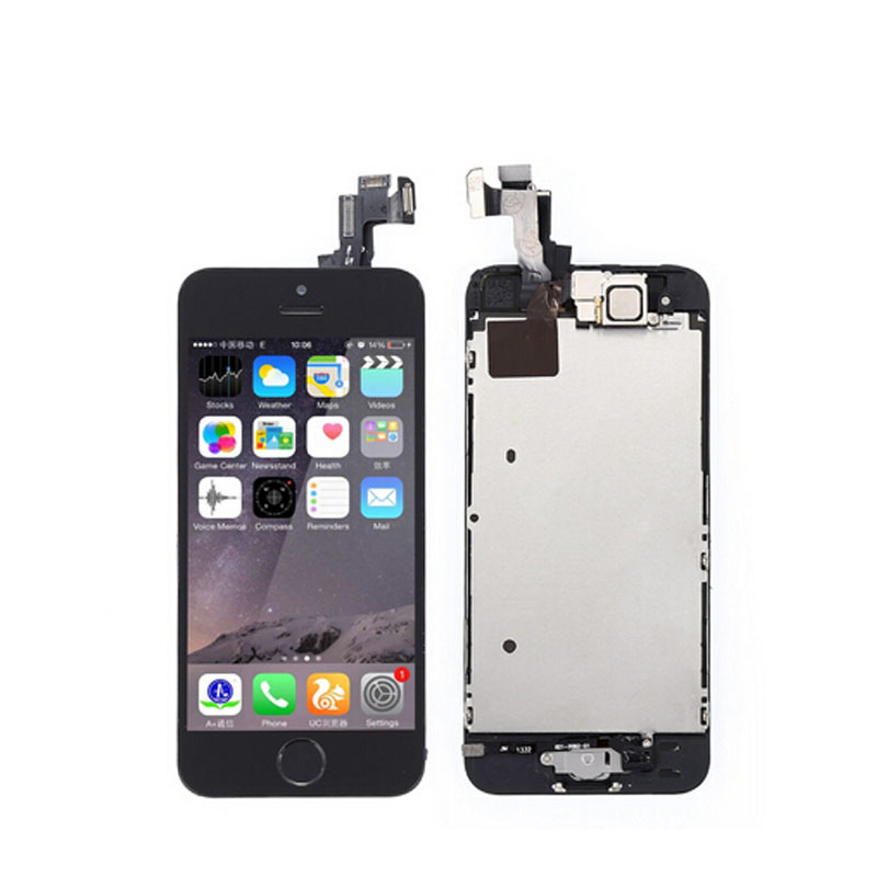 Onecell 10PCS LCD Display Touch Screen Digitizer Full Assembly With Front Camera Home Button For Iphone 5S
