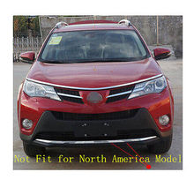 ABS Chrome front bumper Lip cover trim 1pcs For TOYOTA RAV4 2013 2014 2015