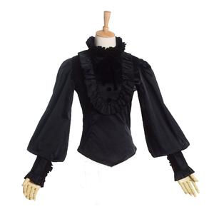 5dc50ff885bb7 BLESSUME Women Blouse Lantern Sleeve Ruffles Shirt Tops
