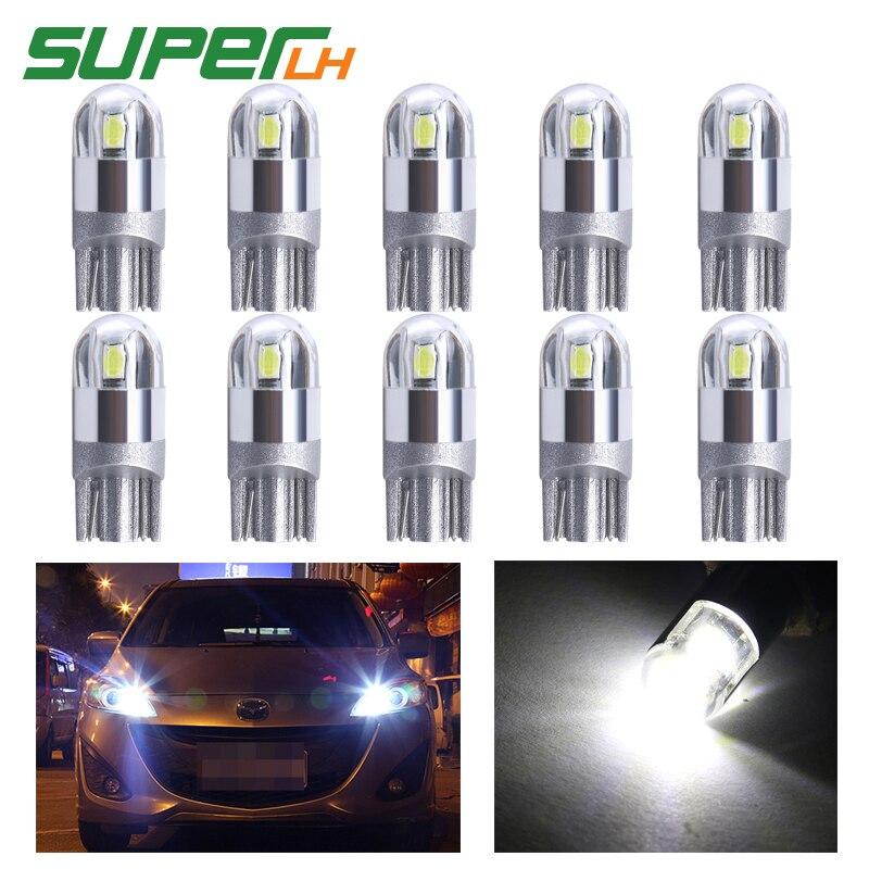 Signal Lamp Dongzhen T10 W5w 5630 10 Led Parking Clearance Wedge Light Car Led Bulb Automobile Lamp 5w5 Led License Plate Brake Light 10pcs