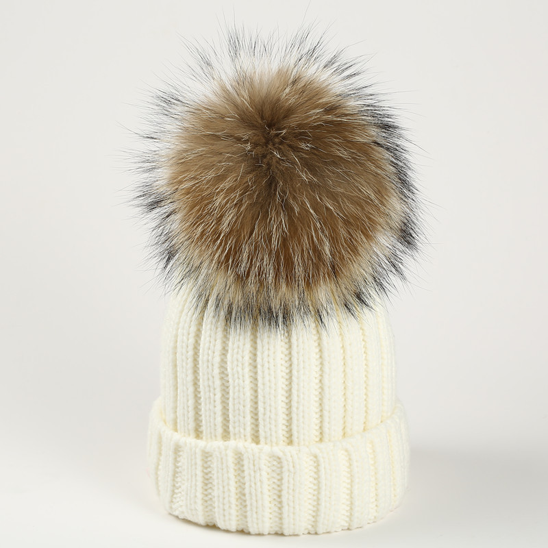 DXHKDYZ 2017 Winter font b b font Winter Raccoon Hair font b Wool b font Hat