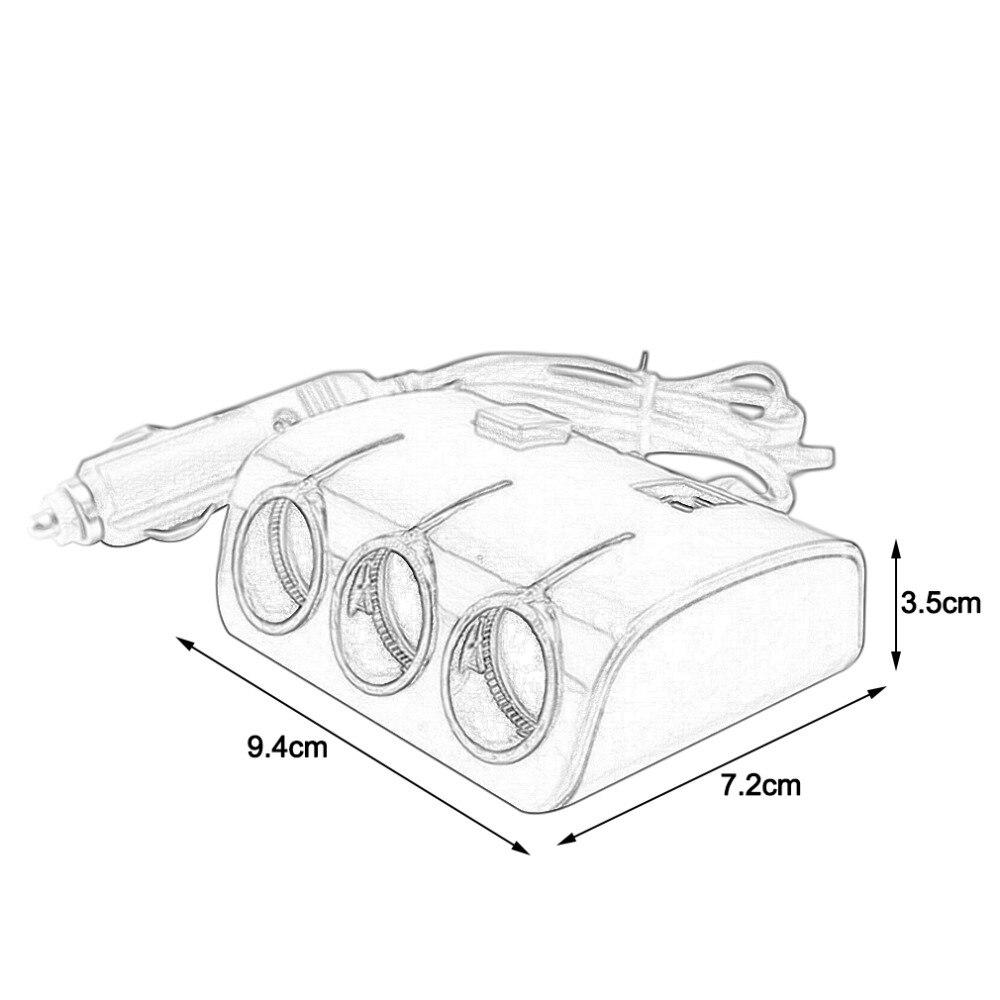 Новый универсальный / 3 разъём(ов) авто автомобильного прикуривателя/ разветвитель 3 USB адаптер зарядного устройства для телефона для планше...