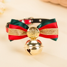725c8737ad Pet Bow tie Cat Collar Ring Bell For Small Kitten Puppies Supplies Tie For  Cats Bow