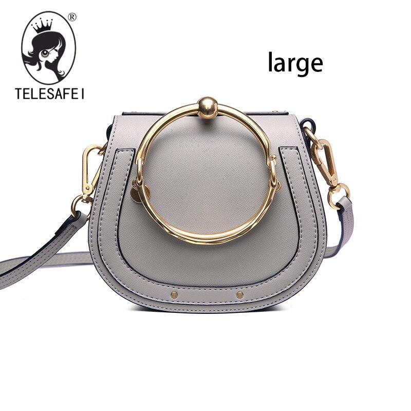 Фотография 2017 Women Genuine leather High Quality Real luxury retro cloe hot sales popular shoulder women handbags gray obag female bag
