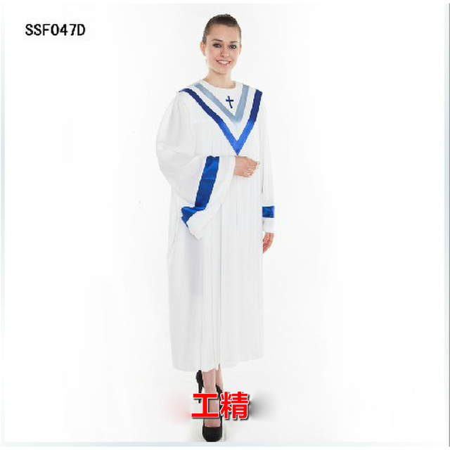 Good Quality Vatican Jerusalem style Blue and White Breathable Church Choir Clergy Robe Gown Dress Straight Garment-in Asia & Pacific Islands Clothing ...