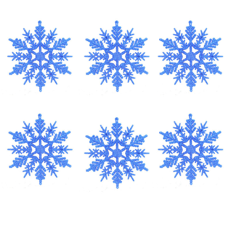 6pc Christmas Decoration Snowflakes 10cm Classic Snowflake Ornaments Christmas Tree Hanging new year Home Decor #4n14 (2)