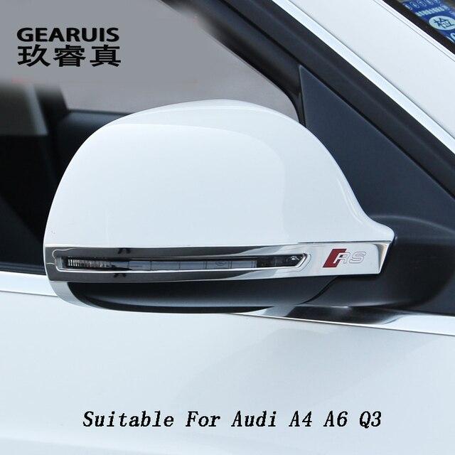 Alta qualidade Rear View mirror antirub raspadinha bumper tira Para Audi A4 A6 Q3 Aupgrade o destaque decorativo capa shell reequipamento