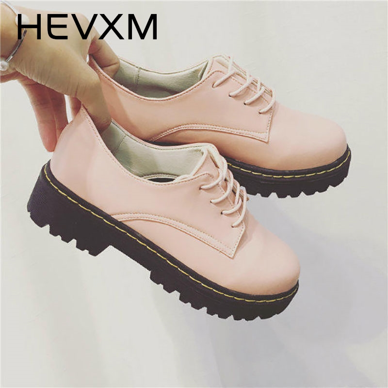 HEVXM 2017 New Autumn England College Wind Small Shoes Shoes Casual Shoes Students At The End Of The Small White Shoes the ocean at the end of the lane