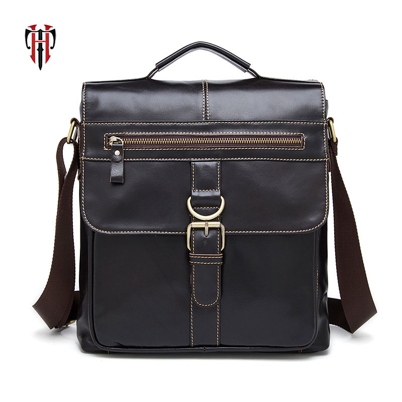 TIANHOO Genuine Leather Handbags bussiness Men Bags flap Messenger Bag Crossbody Bags Shoulder bags with strap tianhoo genuine leather men bags flap messenger bag men s small briefcase man casual crossbody bags shoulder handbags