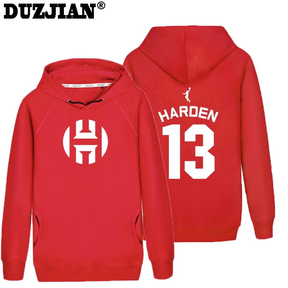 DUZJIAN Rocket mens James Harden print Hoodies psychedelic hoodie assasins creede hoodie turtleneck sweatshirt hip hop wear