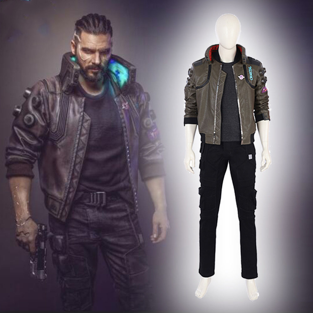 high quality  Cyberpunk Cosplay Costume Cyberpunk Jacket Men Cosplay Full Set