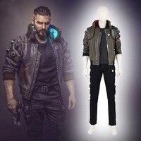high quality Cyberpunk Cosplay Costume Cyberpunk Jacket Men Cosplay Full Set