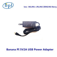 Adaptador de corriente Banana PI M1/M1 +/R1/ZERO 5V2A USB US/EU
