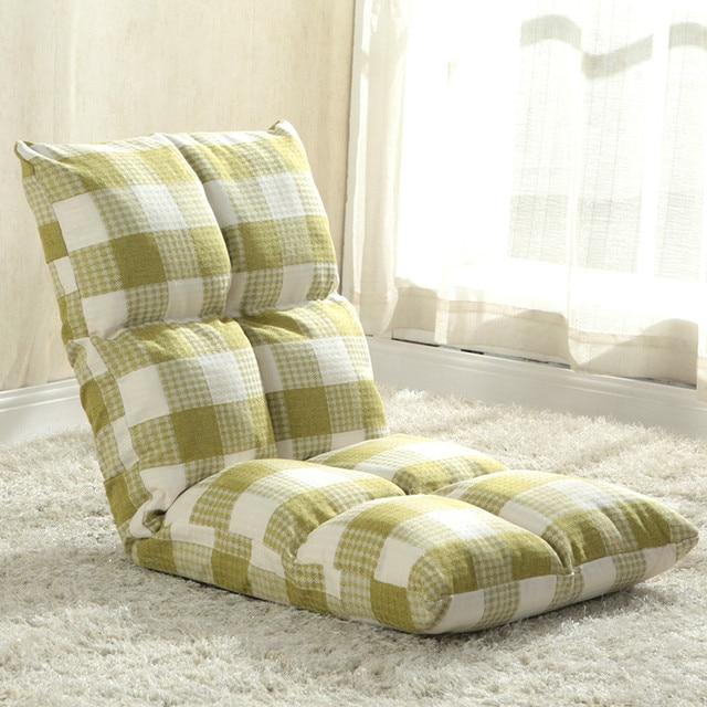 US $125.2 43% di SCONTO|Di alta qualità tessuto di lino divano pigro  poltrona letto singola può essere piegato divano letto reclinabile deriva  ...
