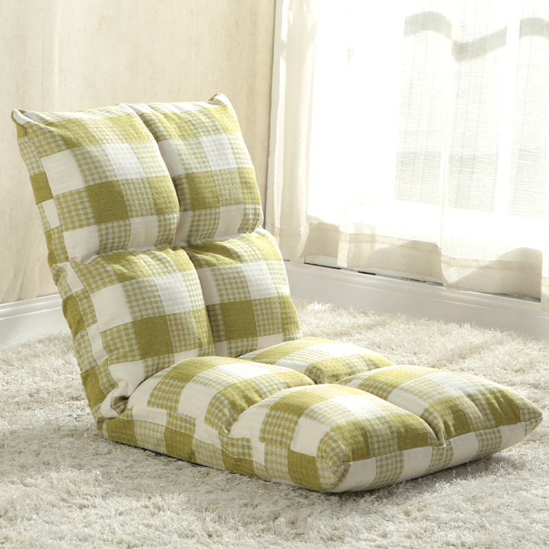 High quality linen fabric lazy sofa single sofa chair can be folded sofa bed recliner drift window chair lazy chair.