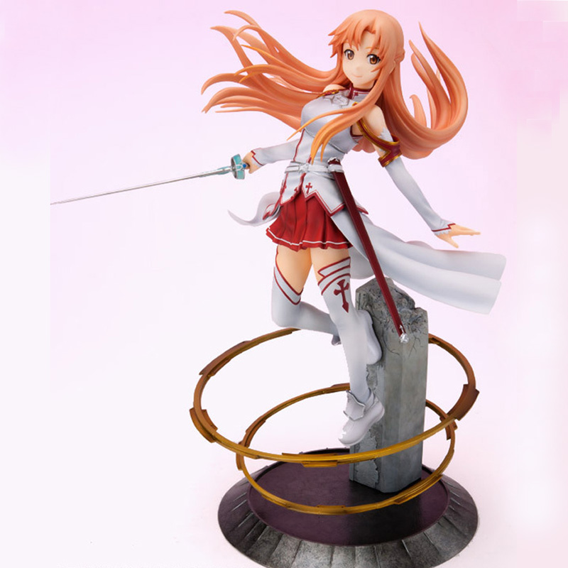 Sword Art Online Yuuki Asuna Pvc Action Figure Japan Anime 23CM Aincrad SAO 1/8 Scale Collection Model Classic Toys for Children sao sword art online vignette figure classic ver asuna furyu birthday gift