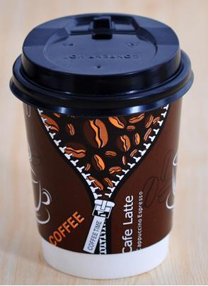 8oz 280ml Disposable Coffee Cups Paper Double Anti Hot Upset 50pcs With Lid