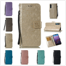 For Huawei P20 Lite Leather Case Unicorn Wallet for Mate 10 Pro Cover Hawei Rope Fundas Huawai 3d Emboss Phone