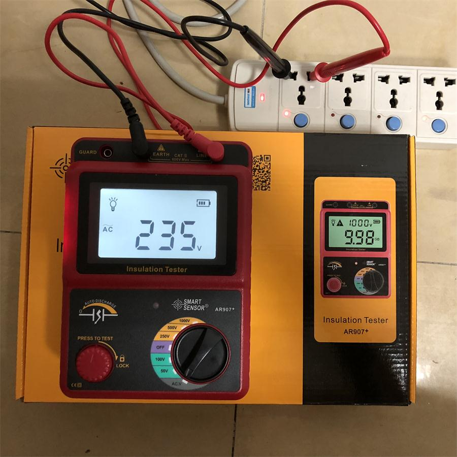 AR907+ 50V-1000v Digital Insulation Resistance Tester Meter Voltage meter Megger Testing Meter Multimeter digital high voltage insulation megger tester se ar907