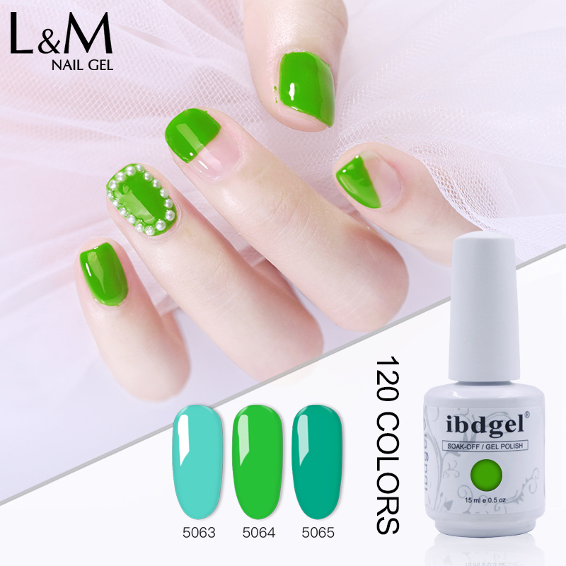 12 Pcs ibdgel Gel Laquer Colorful Soak Off UV Gel Nail Polish 10Colors 1Top 1Base Coat