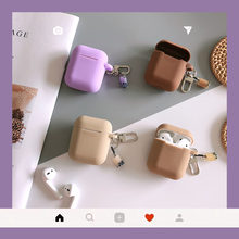 Cute Milk Tea for AirPods protective Case Silicone Soft shell for wireless Bluetooth headset set female Cover anti-fall(China)