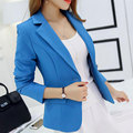 New 2017 Autumn Women'S Jacket Office OL High-Grade Fashion Slim Short Women'S Suits Single Button Long Sleeve Women Blazer Y504