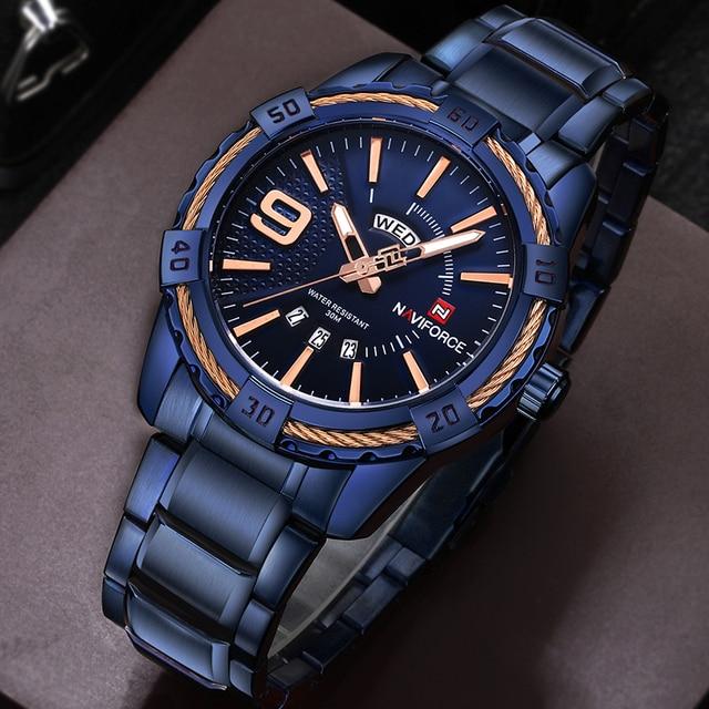 Watches Men Luxury Brand Sport Full Steel Quartz Watch Men's Waterproof Military Wrist watches 2