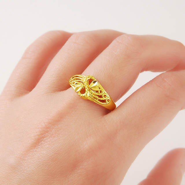 60f7f57d100 New genuine 24K gold ring JR033 simple and stylish ultra low cost wholesale  Elegant-in Rings from Jewelry & Accessories on Aliexpress.com | Alibaba  Group