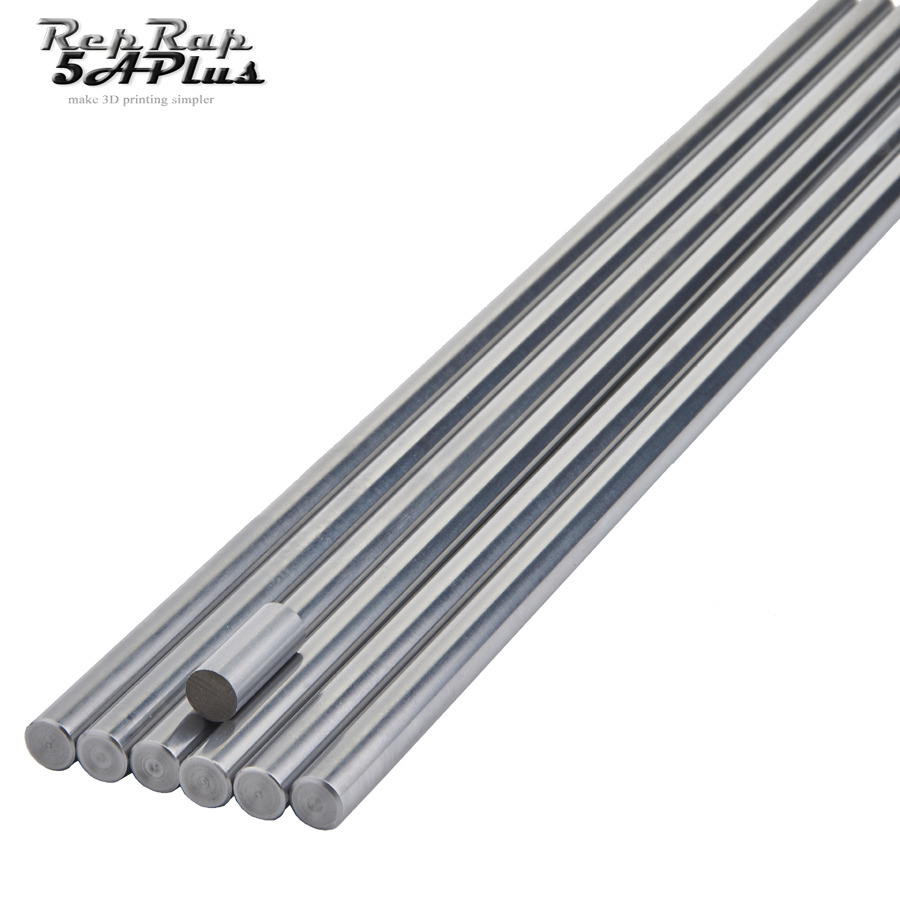 CNC Parts Liner Rail OD 10mm Length 100mm 200mm 300mm 400mm 500mm Shaft Smooth Rod Stainless Steel Round Bar For 3D Printer