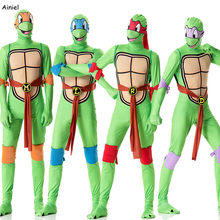 Anime Teenage Mutant Ninja Turtles Cosplay Costume Clothing Suit Men Jumpsuits Mask Toy Shell Weapon Halloween Costume Adult Man(China)
