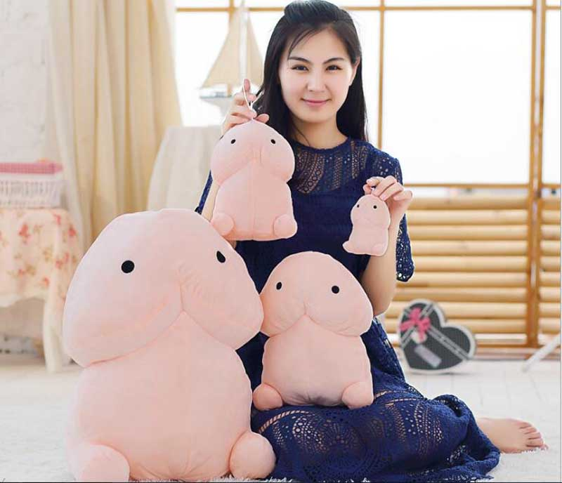 10/20cm Funny Plush Penis Toy Doll Soft Stuffed Creative Simulation Penis Pillow Cute Sexy Kawaii Toy Gift for Girlfriend 1pc 20cm 7 styles creative expression dumpling toys yan text bubble white foam particles plush pillow kids baby doll funny gift