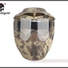Подробная информация о военный Пейнтбольный боевой маска для лица EMERSON тактическая Противоударная Маска Highlander EM6603F HLD