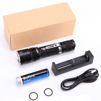 Powerful Tactical LED Flashlight 18650 Cree XPL2 V6 2A Waterproof Torch Light Military 6063 Aluminum 18650