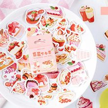 Strawberry Afternoon Tea Sticker Cute Boxed Kawaii Stickers Planner Scrapbooking Stationery Japanese Diary Stickers Decoration(China)