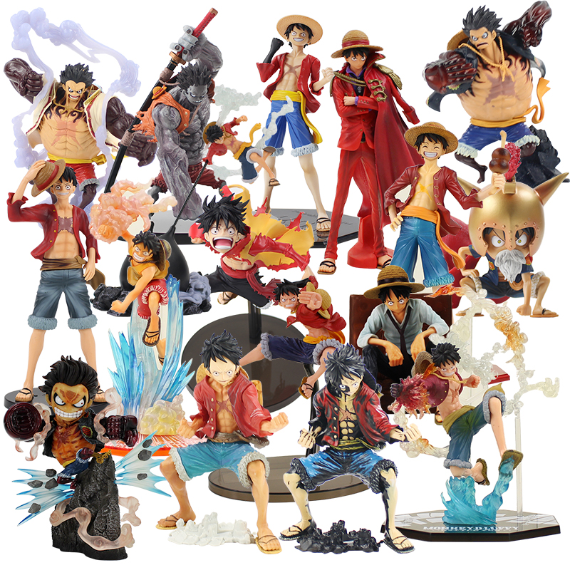 12-26cm <font><b>One</b></font> <font><b>Piece</b></font> Monkey D <font><b>Luffy</b></font> Gladiator Lucy SCultures <font><b>Luffy</b></font> Domineering Armed Colosseum Nightmare PVC Figure Model Toy Doll image