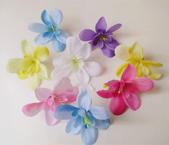 Artificial flowers head diy simulation orchid flowers silk flower artificial flowers head diy simulation orchid flowers silk flower corsage necessary clothes shoes and hats mightylinksfo Choice Image