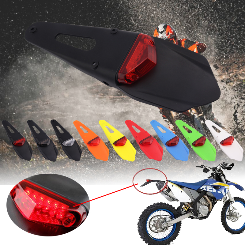 For KTM CR EXC WRF 250 400 426 450 Polisport Motorcycle Tail LED Light and Rear Fender Stop Enduro tail light MX Trail Supermoto