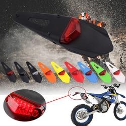 Para KTM EXC CR 250 WRF 400 426 450 Polisport cauda Da Cauda Da Motocicleta Luz LED e Parar de Enduro Traseira Fender luz Trilha MX Supermoto